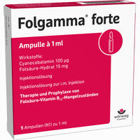 Abbildung von Folgamma Forte Ampullen  5 x 1 ml