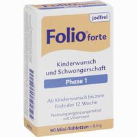 Abbildung von Folio 1 Forte Jodfrei Tabletten  90 Stück
