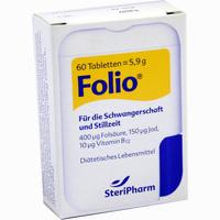 Abbildung von Folio + B12  Tabletten 60 Stück