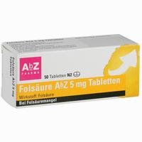 Folsäure Abz 5mg Tabletten   50 Stück
