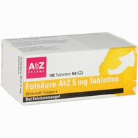 Folsäure Abz 5mg Tabletten   100 Stück