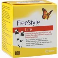 Freestyle Lite Teststreifen Ohne Codieren   Abbott diabetes care 100 Stück