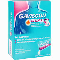 Abbildung von Gaviscon Dual 500mg/213mg/325mg Suspension  24 x 10 ml