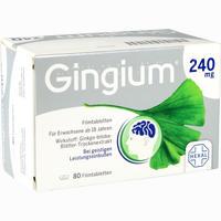 Abbildung von Gingium 240 Mg Filmtabletten  80 Stück