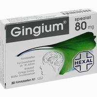 Abbildung von Gingium Spezial 80 Filmtabletten 30 Stück
