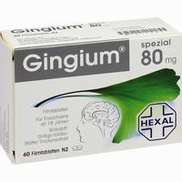 Gingium Spezial 80  Filmtabletten 60 Stück