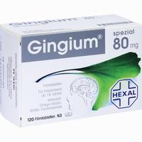 Gingium Spezial 80  Filmtabletten 120 Stück