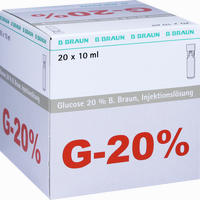 Glucose 20% Braun Mini-plasco Connect  Injektionslösung 20X10 ml