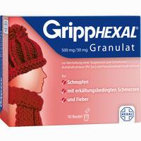 Abbildung von Gripphexal 500mg/30mg Granulat  10 Stück