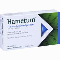 Abbildung von Hametum Hämorrhoiden Zäpfchen  10 Stück