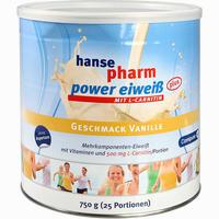 Abbildung von Hansepharm Power Eiweiß Plus Vanille Pulver 750 g