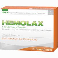 Abbildung von Hemolax 5mg überzogene Tabletten  200 Stück