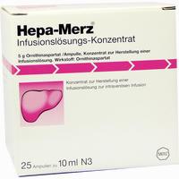 Abbildung von Hepa- Merz Infusionslösungs- Konzentrat Infusionslösungskonzentrat 25 x 10 ml