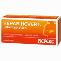 Abbildung von Hepar Hevert Lebertabletten 40 Stück