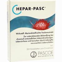 Hepar-pasc  Filmtabletten 20 Stück