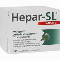 Abbildung von Hepar- Sl 640 Mg Filmtabletten  100 Stück