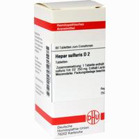 Hepar Sulf D2  Tabletten 80 Stück
