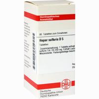Hepar Sulfuris D5  Tabletten 80 Stück