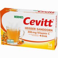Hermes Cevitt Heisser Sanddorn  Granulat 14 Stück