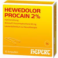 Hewedolor Procain 2%  Ampullen 10 Stück
