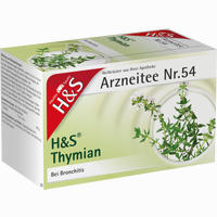 H&s Thymian  Filterbeutel 20 Stück