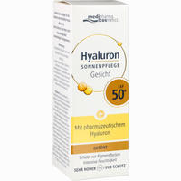 Abbildung von Hyaluron Sonnenpflege Gesicht Getönt Lsf 50+ Cre 50 ml