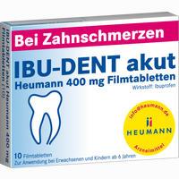 Ibu-dent Akut Heumann 400 Mg Filmtabletten   10 Stück