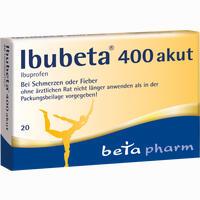 Abbildung von Ibubeta 400 Akut Filmtabletten 20 Stück