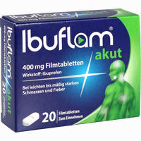 Abbildung von Ibuflam Akut 400 Mg Filmtabletten  20 Stück