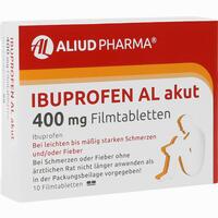Abbildung von Ibuprofen Al Akut 400mg Filmtabletten  10 Stück