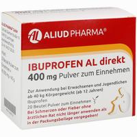 Abbildung von Ibuprofen Al Direkt 400 Mg Pulver Zum Einnehmen  20 Stück