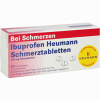 Abbildung von Ibuprofen Heumann Schmerztabletten 400mg Filmtabletten 30 Stück