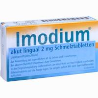 Imodium Akut Lingual Schmelztabletten Eurim 12 Stück
