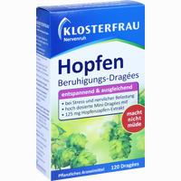 Abbildung von Klosterfrau Hopfen Beruhigungs- Dragees Nervenruh  120 Stück