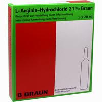 L-arginin-hydrochlorid 21% Elek.-konz.inf.-ls  Infusionslösungskonzentrat 5X20 ml