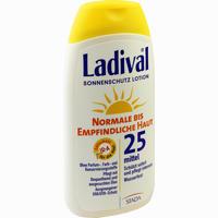 Abbildung von Ladival Normale Bis Empfindliche Haut Lotion Lsf 25  200 ml