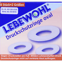 Lebewohl Druckschutzringe Oval 8 Stück