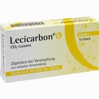 Abbildung von Lecicarbon K Co2- Laxans Kinder- Zäpfchen 10 Stück