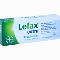 Abbildung von Lefax Extra Kautabletten 20 Stück