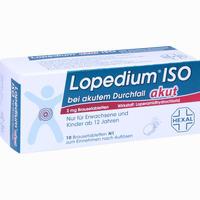 Lopedium Akut Iso Bei Akutem Durchfall Brausetabletten 10 Stück