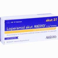 Loperamid Akut Aristo 2mg Tabletten   10 Stück