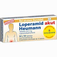 Abbildung von Loperamid Akut Heumann Tabletten 10 Stück
