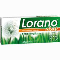 Lorano Akut  Tabletten 14 ST
