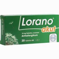 Lorano Akut  Tabletten 20 Stück