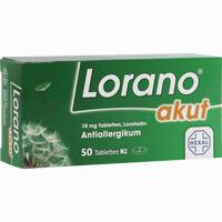 Lorano Akut  Tabletten 50 Stück