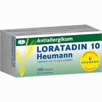 Loratadin 10 Heumann  Tabletten 100 Stück