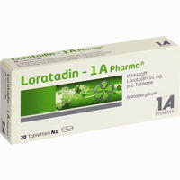 Abbildung von Loratadin - 1a Pharma Tabletten 20 Stück