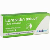 Abbildung von Loratadin Axicur 10 Mg Tabletten  Axicorp pharma 7 Stück