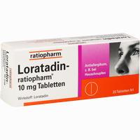 Loratadin-ratiopharm 10mg Tabletten   20 Stück