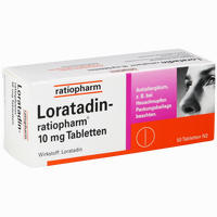 Abbildung von Loratadin- Ratiopharm 10mg Tabletten  50 Stück